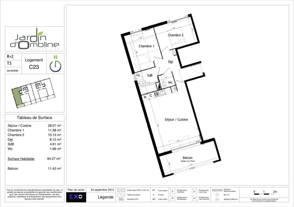 plan appartement neuf